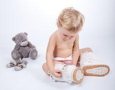 Free Baby Girl Child Royalty Free Stock Photo - 16505335