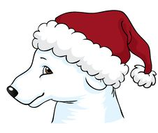 Free Polar Bear With Christmas Hat Royalty Free Stock Photography - 16505797