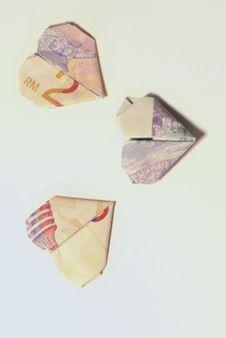 Love Money Notes Royalty Free Stock Photo