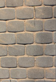 Brick Floor Stock Photo