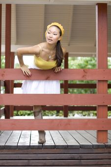 Free Girl On A Veranda Royalty Free Stock Photos - 16506088