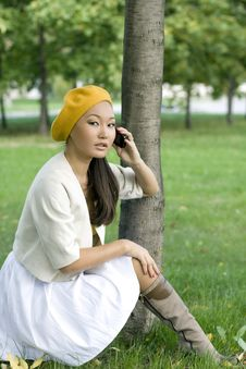 Free Girl Talking By Phone Royalty Free Stock Photo - 16506275