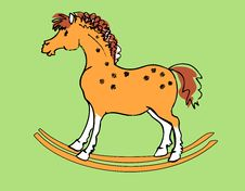 Free Rocking Horse Royalty Free Stock Photography - 16506827