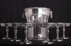 Silver Service Stock Photography