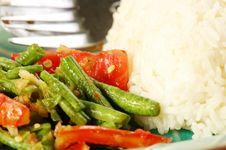 Free Long Bean (Tua Fak Yaow) Salad Stock Photos - 16507243