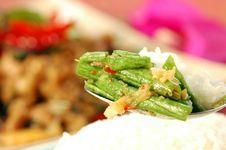 Free Long Bean (Tua Fak Yaow) Salad Stock Images - 16507254