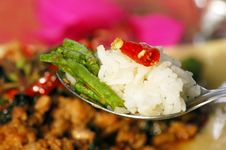 Free Long Bean (Tua Fak Yaow) Salad Stock Photos - 16507273