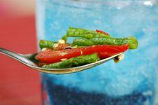 Free Long Bean (Tua Fak Yaow) Salad Royalty Free Stock Image - 16507326