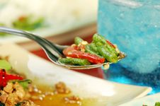Free Long Bean (Tua Fak Yaow) Salad Royalty Free Stock Photos - 16507338