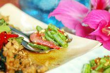 Free Long Bean (Tua Fak Yaow) Salad Royalty Free Stock Photos - 16507348
