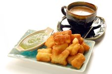 Free Deep-fried Doughstick With Local Coffee Royalty Free Stock Photo - 16507575