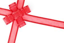 Free Red Ribbon With Bow Stock Photos - 16508333