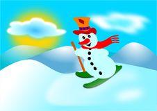 Free Snowman And Ski Stock Photos - 16508723