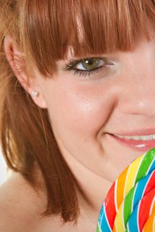 Free Girl With Lollipop Stock Image - 16508741