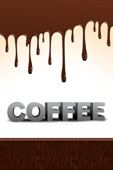Free Coffee Text With Dripping Chocolate Royalty Free Stock Photos - 16509158