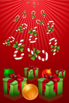 Free Merry Christmas With Gifts And Candies Royalty Free Stock Images - 16509159
