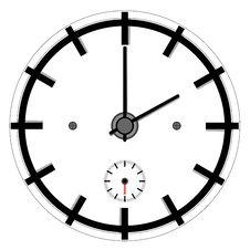 Simple Clock Royalty Free Stock Image