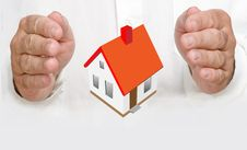Free Hands Protecting House Stock Photos - 16509673