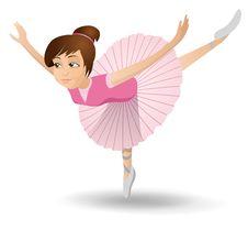 Free Ballerina Illustration Royalty Free Stock Photos - 16509928