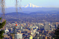 Free Mt. Hood & Portland Panorama. Royalty Free Stock Photography - 16510957