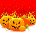 Free Halloween Pumpkin With Fire Stock Photography - 16511772