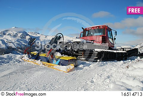 Free Tractor In The Mountain. Stock Photos - 16514713