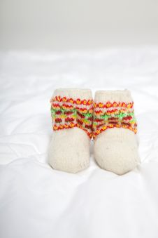 Free Knitted Shoes Stock Photo - 16510190