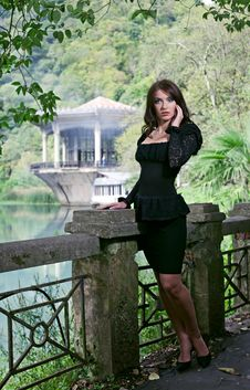 Free Beauty Brunette Woman In Abkhazia Forest Royalty Free Stock Photo - 16510425
