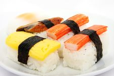 Free Japanese Sushi Traditional Food Royalty Free Stock Images - 16510709