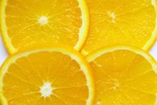 Free Fresh Orange Sliced Pieces Of Background Stock Photo - 16510900