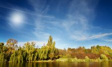 Wonderful View Of Autumn Lake. Stock Images