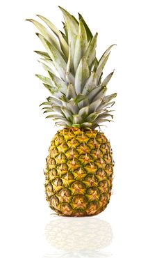 Free Pineapple On A White Background Stock Images - 16511454
