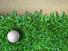 Free Golf Ball On Green Grass Royalty Free Stock Photography - 16512657