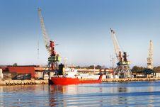 Free Cargo Ship Loading Stock Image - 16514411