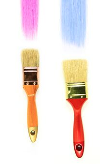 Free Brush 2 Colors. Stock Photos - 16515283