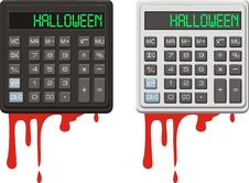 Halloween. Calculator And Blood. Stock Images