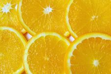 Free Orange Sliced Pieces Of Background Stock Images - 16516294