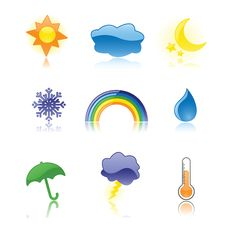 Free Glossy Weather Icons Stock Photos - 16517673
