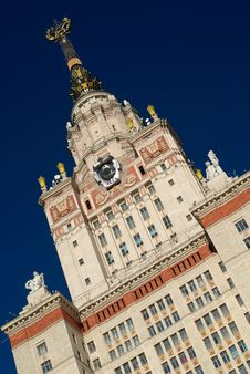 Free Top Of The Moscow State University Main Building Stock Photos - 16517873