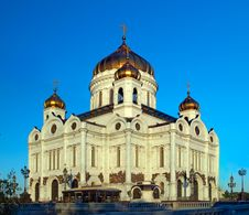 Cathedral Of The Christ Our Savior In Moscow Stock Photos