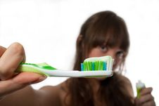 Free Brushing Teeth Stock Photography - 16518682