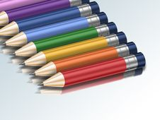 Free Colourful Pencils Royalty Free Stock Images - 16518729