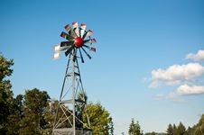 Free Small Windmill With Blue Sky And Clouds Stock Images - 16519294
