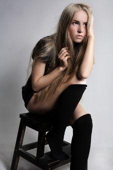 Free Attractive Beautiful Girl Posing In Studio Stock Photo - 16519750