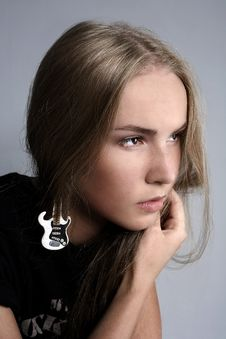 Free Portrait Of Attractive Beautiful Girl Stock Photography - 16519752