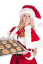 Free Santas Helper With Pan Cookies Stock Photography - 16521872