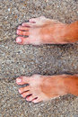 Free Feet Of Man At The Beach Royalty Free Stock Photos - 16522918