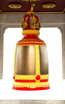 Traditional Thai Style Bell Stock Photo