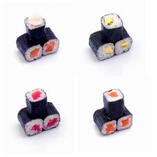 Free Rolled And Sushi Set Stock Photography - 16521432