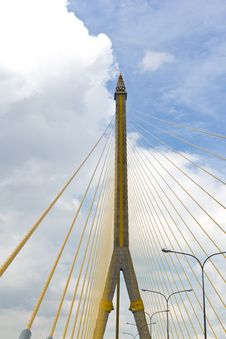 Free Cable Huge Bridge Royalty Free Stock Images - 16521479